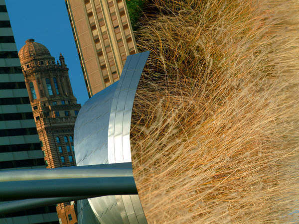 Chicago. Millennium Park. Hommage to Frank Gehry